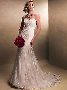 Stunning Lace Wedding Dress Mermaid Style! With a sparkle!