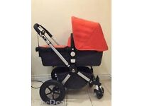 BUGABOO CAMELON - £200 - COMPLETE SET PLUS EXTRAS- FOOTMUFF, PARASOL AND BUGGY BOARD