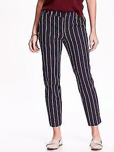 Old Navy women's navy blue red white striped dress pants Size 18