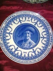 QUEEN MOTHER WEDGWOOD PLATE £30 QUEEN MOTHER WEDGWOOD PLATE