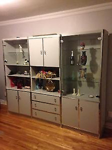 CRISTALLIERE DISPLAY CABINETS CURIO WALL UNIT
