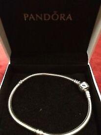 Pandora braclet silver
