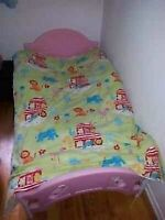 Transition bed ,booster seat , girls clothing from 2 to 4