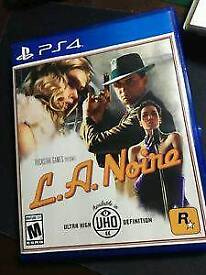 Ps4 game/ L.A Noire game used once/ cash or swaps