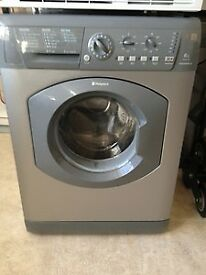 44 Hotpoint WML540 6kg 1400 Spin Silver A Rated Washing Machine 1 YEAR GUARANTEE FREE DEL N FIT