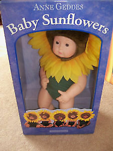 Baby SunFlowers Doll, Anne Geddes Collection, New in Box, Vintag