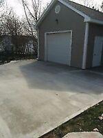 Concrete Garage pads / Basement Floor Installation