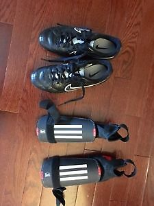 Nike cleats and adidas shin pads - youth