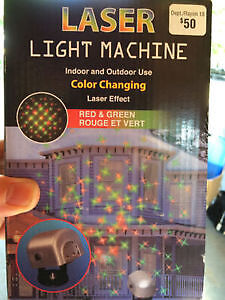 Laser light ideal for Christmas display