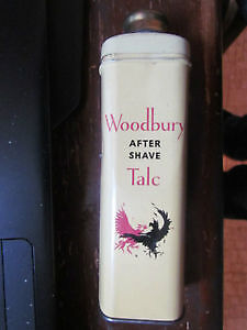 VINTAGE WOODBURY AFTER SHAVE TALC TIN