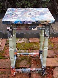 NEW comic book side table - handcrafted in vintage style. Brilliant gift!