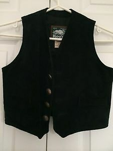 Roots Kids - western black suede vest - Mint, newly condition