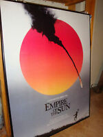 Vintage Spielberg Movie Poster Empire of the Sun Framed