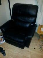 50 bucks for leather black Reclining chair and dresser