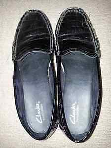 2 prs Clarks Patent Leather Dress shoes