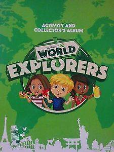 58 WOOLWORTHS WOOLIES WORLD EXPLORER CARDS AND STICKERS Calamvale Brisbane South West Preview