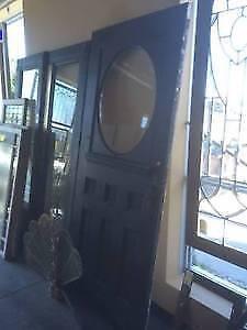 Black Door With Glass Insert!