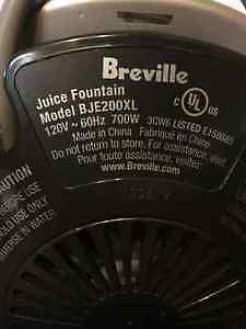 Breville Juice Fountain Windsor Region Ontario image 3