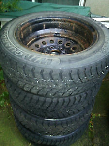 Set (4) of Winter Tires For Sale (With Rims) - 100$
