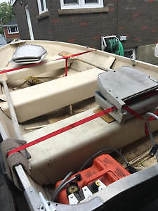1988 12 foot wide aluminum boat with a 2014 trailer
