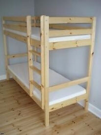 NEW VERY STURDY BUNK BEDS IN WHITE OR PINE. FREE DELIVERY IN PORTSMOUTH