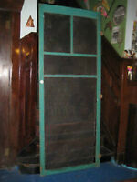 "antique 1920s era solid wood ""Cleveland"" style Screen Door!"