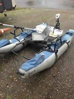 9ft pontoon boat with electric motor