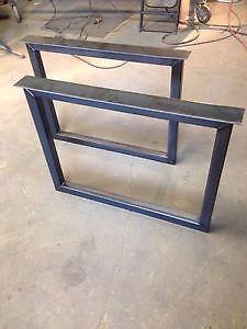 Pattes de tables en acier sur mesure