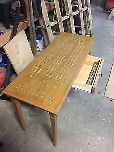 Hand Crafted Oak Cribbage Table Strathcona County Edmonton Area image 1