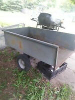 trailer with hitch for riding lawn more