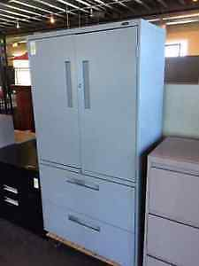 Used two door Storage with lower 2-drawer filing cabinet
