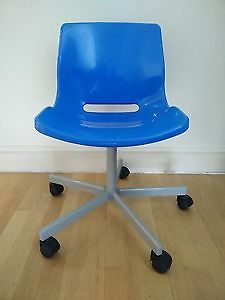 Blue IKEA Snille swivel desk chair