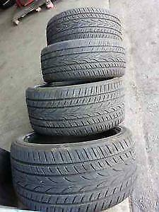 235/60R16 set of 4 Yokohama Used (inst. bal.incl) 75% tread left