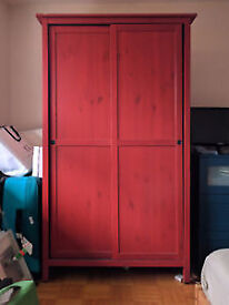 Ikea Hemnes Red Wardrobe - disassembled - solid pine!