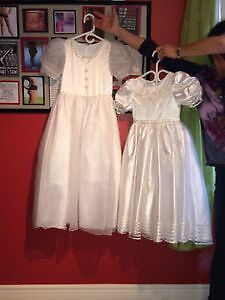 2 Flower Girl/Communion Dresses. Size 4 and size 7 London Ontario image 1