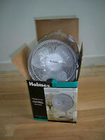 Holmes Convertible Desk Fan, White