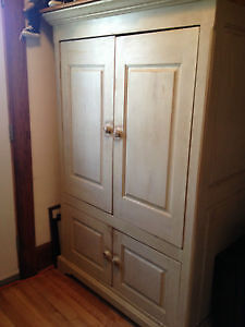 Antique Finish Solid Wood Armoire $600 OBO