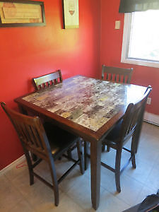 pub style kitchen table & 4 chairs