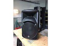 x2 Mackie SRM450 Active Powered Speakers 1000w each