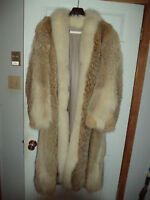 High Quality Coyote Fur Coat With White Fox Fur Trim