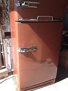 Antique 1950's GE combination fridge