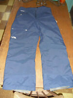 North Face insulated navy blue hyvent pants Large hiking camping