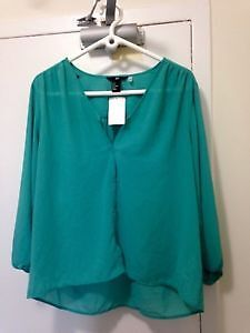 Green blouse, brand new with tags, size 8