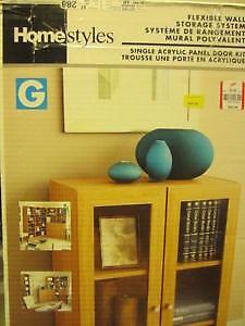 Single Door Kit for Storage System-Northern Oak Finish-Glass