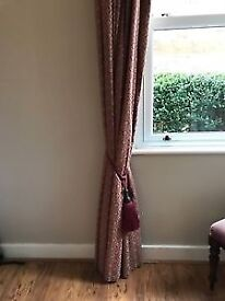 Laura Ashley Sitwell Gold Lined Classic Curtains