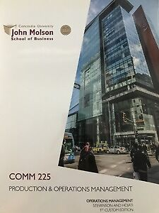 COMM 225: Production & Operations Management
