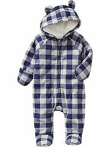 Old Navy microfleece one piece - 18-24m