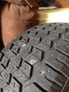 2 UNIROYAL-TIGER PAW - Ice & Snow 225/70R16 tires with rims