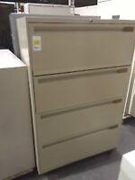 4 Drawer Filing Cabinets- BEIGE