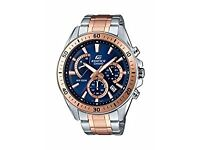 *Sale * 50% Discount Brand New CASIO EDIFICE Men's watch, Blue Dial Analogue Display